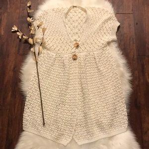 Free people white crochet cardigan